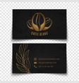 coffee beans logo design black busies card vector image vector image