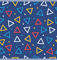 colorful geometric shape retro seamless pattern vector image