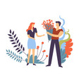 couple in love pair man and woman feeling vector image vector image