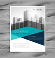 creative geometric business brochure design vector image