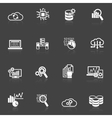 Database analytics icons black and white vector image vector image