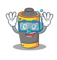 diving battery character cartoon style vector image