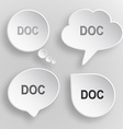 Doc White flat buttons on gray background vector image vector image