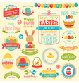 easter labels vector image vector image