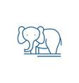 elephant line icon concept elephant flat vector image vector image