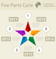 Five parts infographic timeline design template vector image vector image