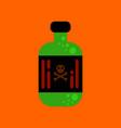 flat icon stylish background potion in bottle vector image vector image