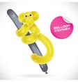 Glossy Balloon Monkey vector image