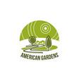 green landscape association eco icon vector image