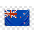 hanging flag new zealand new zealand national vector image