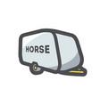 horse trailer simple icon cartoon vector image