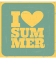 I love summer poster vector | Price: 1 Credit (USD $1)