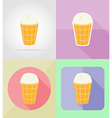 ice cream flat icons 09 vector image vector image