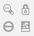 internet icons set collection zoom out refuse vector image vector image