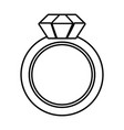 isolated ring design vector image
