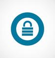 lock bold blue border circle icon vector image vector image