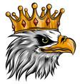 logo queen eagles cute crown print vector image vector image