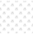 mail reject background from line icon vector image vector image
