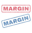 margin textile stamps vector image vector image