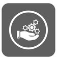 Mechanics Service Flat Squared Icon vector image vector image
