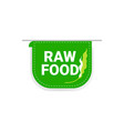 natural healthy organic vegan market logo raw food vector image