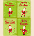 new year greeting cards design with saint nicholas vector image vector image