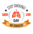 no tobacco isolated icon stop smoking lung cancer vector image vector image