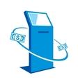 Payment terminal sign vector image