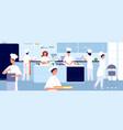 professional cooking kitchen restaurant cook vector image vector image