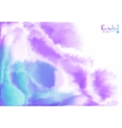 Purple and blue background in watercolor style vector image