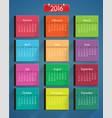 realistic colorful calendar set vector image