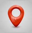 red map pin pointer modern design vector image vector image