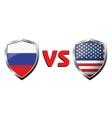 Russia vs USA flag icons theme vector image vector image