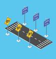 school roadway on street parking lot vector image vector image