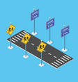 school roadway on street parking lot vector image