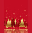 seamless winter forest background with reindeers vector image vector image
