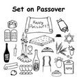 set of graphic elements holiday pesach passover vector image