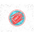 shopping tag line icon sale coupon sign vector image vector image