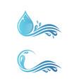 splash water vector image