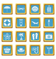 summer rest icons azure vector image vector image