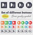 Talking Flat modern web icon Big set of colorful vector image vector image