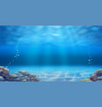underwater landscape realistic background vector image