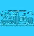 united states fort lauderdale winter holidays vector image vector image