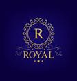 vintage logo with swirls flourishes vector image vector image