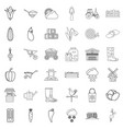 weather icons set outline style vector image vector image