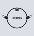 wing badge theme with diamond vector image vector image