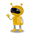 yellow cute robot isolated on white background vector image