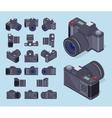 Isometric photo cameras vector image
