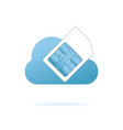 sim card in the blue cloud vector image