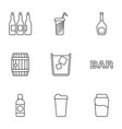 9 beer icons vector image vector image